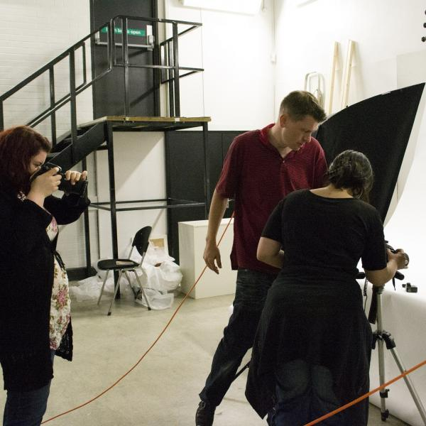 Working in the photography studios at Nottingham Trent University