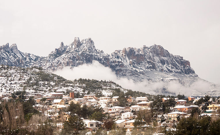 Mountains in Vacarisses, Spain