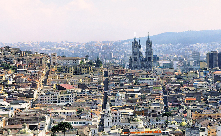 Panorama of the Quito cityscape