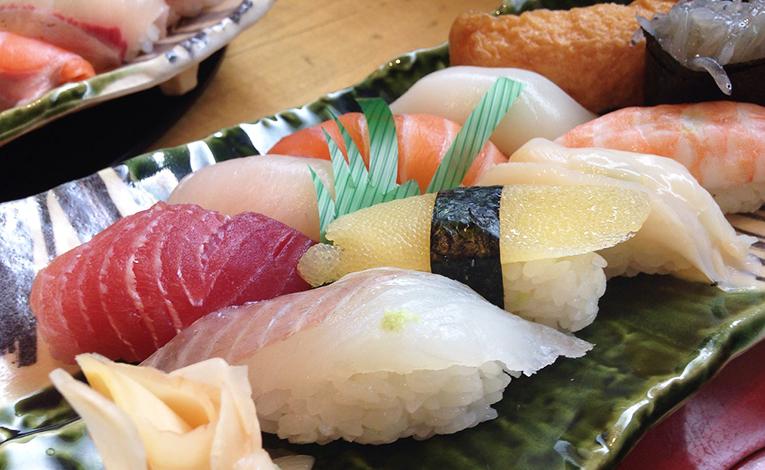 Sashimi on a plate