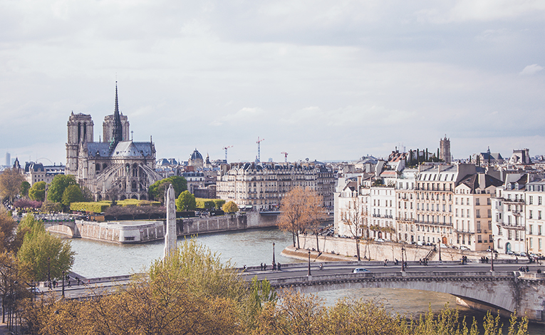 The Seine and backside of Notre Dame