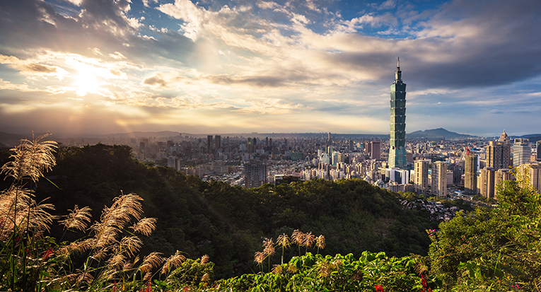 Taipei at the golden hour