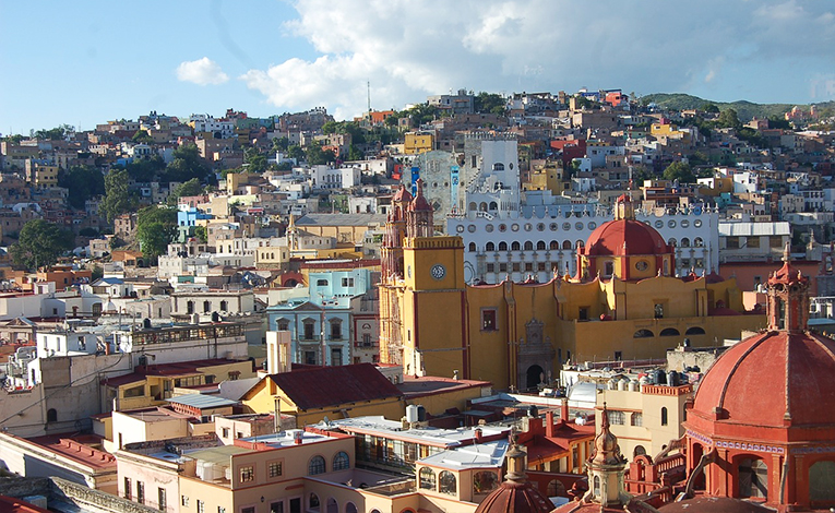 View of Guanajuato City, Mexico