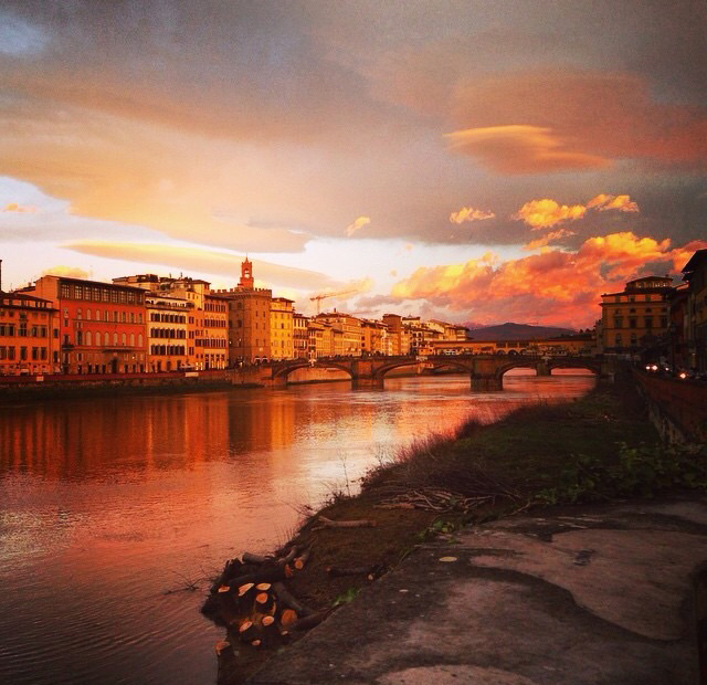 Sunset in Firenze, Italy.