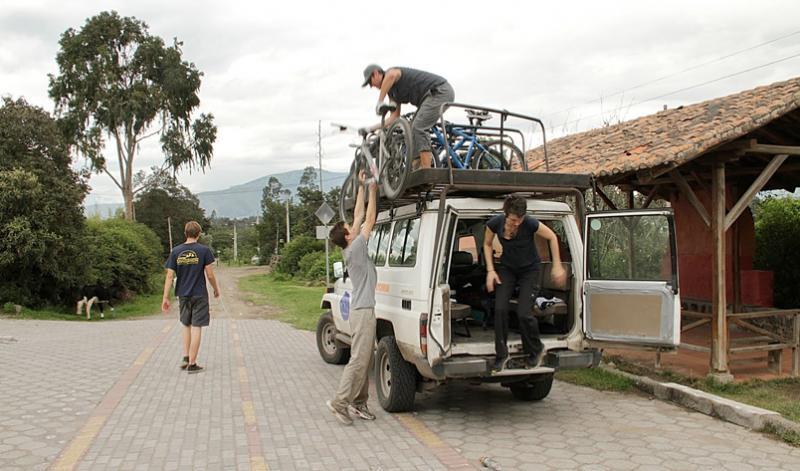 Outdoor biking in Ecuador