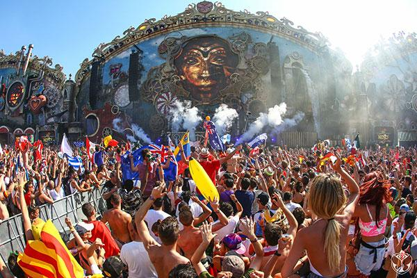 Tomorrowland Festival in Belgium.