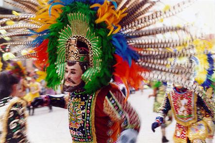 Feathered Headdress at Carnaval Tlaxcala