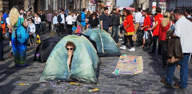 Get ready to set up camp in the middle of the street at the Edinburgh Fringe Festival.