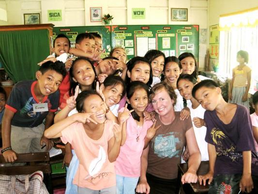 Beginner ESL Students with Their Foreign Teacher