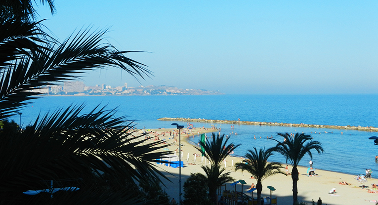Beachside in Alicante, Spain