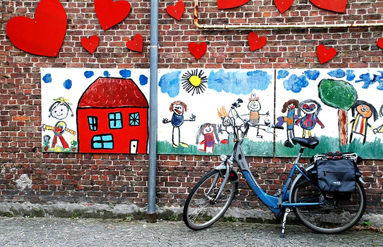 A kindergarten mural in Belgium