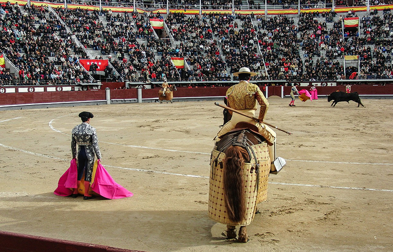 Matadors and bullfight in Spain