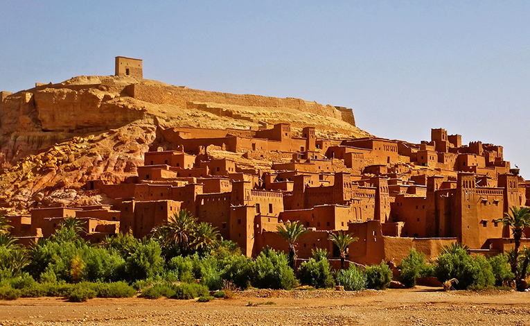 Adobe fortress in Morocco.