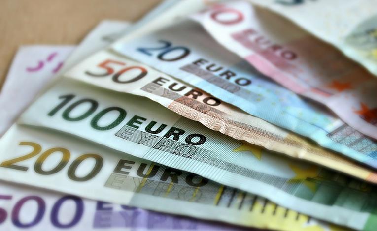 stack of euros