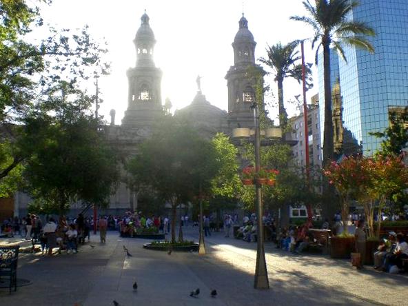 Plaza in Santiago, Chile