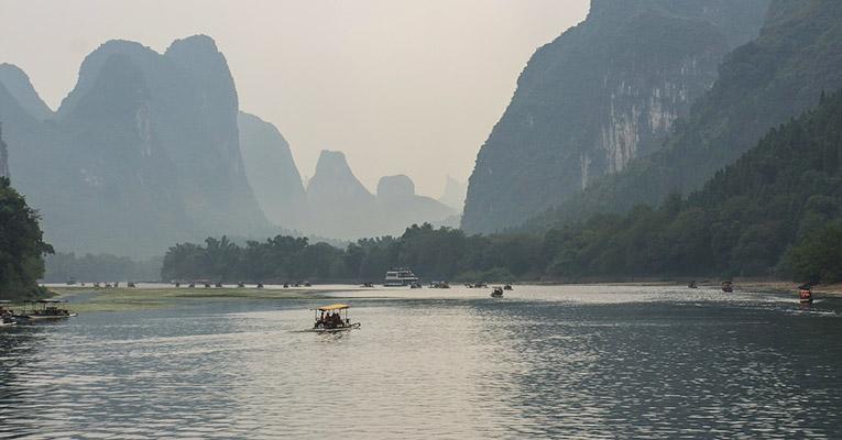 The Li River or Lijiang in Guangxi Zhuang Autonomous Region