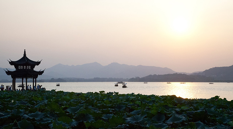 Lake in Hangzhou