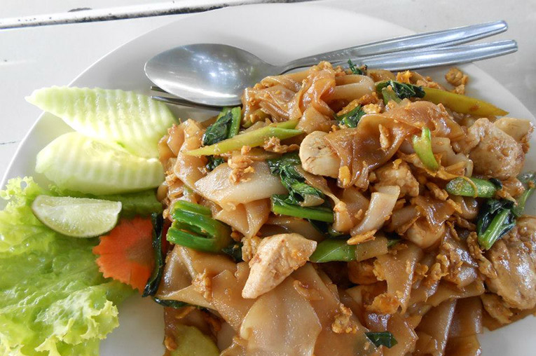 Pha See Eaw Noodle Dish in Thailand