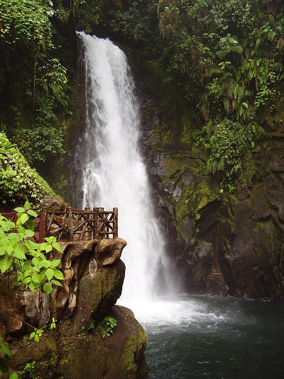 Waterfalls in Costa Rica's rainforest