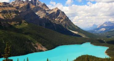 Take in one of the many stunning views in Banff National Park in Alberta while studying abroad in Canada