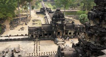 Volunteer in Cambodia and visit Angkor Wat, the largest religious monument in the world, on your free time.