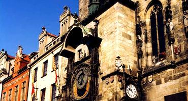 The Prague astronomical clock, third oldest of its kind in the world