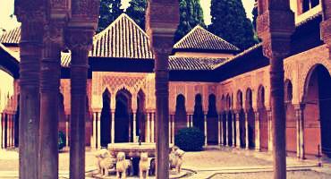 A Moor palace in Granada, Spain