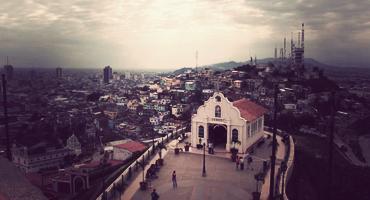 A small chapel atop Cerro Santa Ana in Guayaquil, Ecuador
