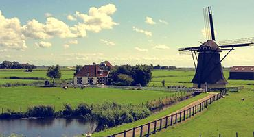 Windmill in Netherlands.