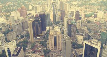 Bird's eye view of Kuala Lumpur