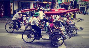 Busy street in Hanoi, Vietnam