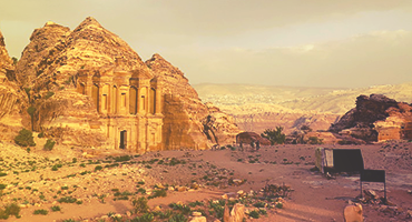 Ancient ruins in the Middle East