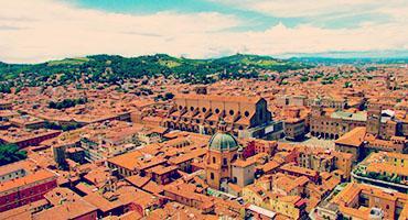 a bird's eye view of Bologna