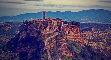 A beautiful view of Tuscania, Italy