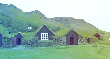 Houses in rural Iceland
