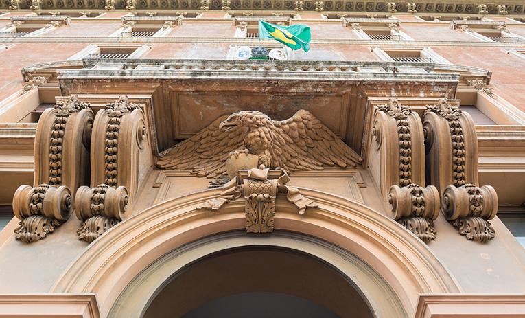Entrance to a Brazilian embassy