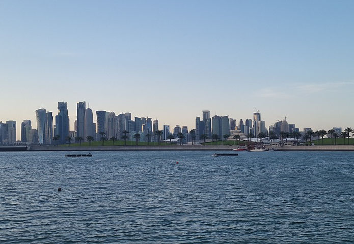 City skyline of Doha, Qatar