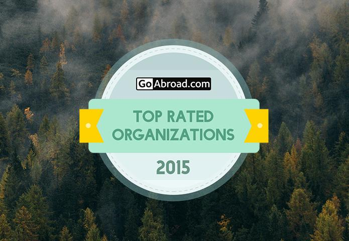GoAbroad.com's Top Rated Organizations of 2015 Badge