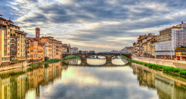 Arno River in Florence.