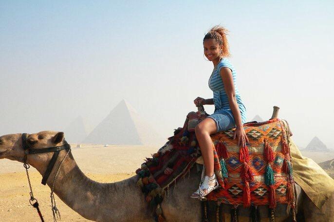 Camel riding near the Pyramids of Giza