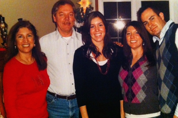 The Kraska family of Crown Point, IN celebrating the holidays.
