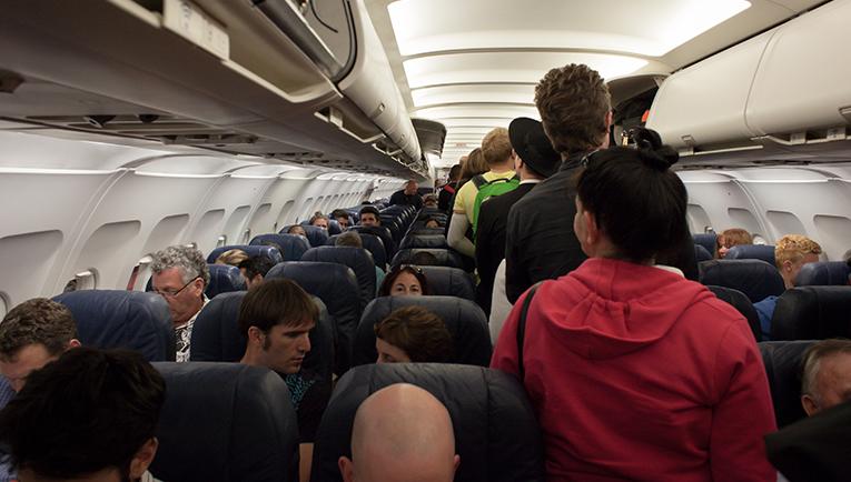 Passengers boarding a flight