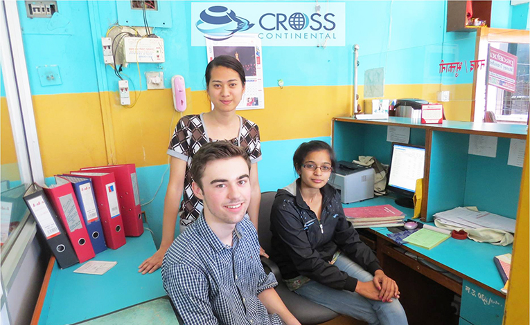 Intern at an NGO office in Asia