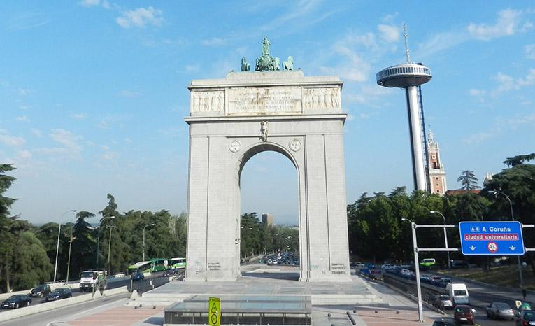 Arco de la Victoria in Madrid, Spain