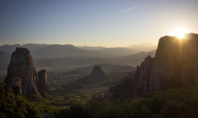 View of Meteora, Greece