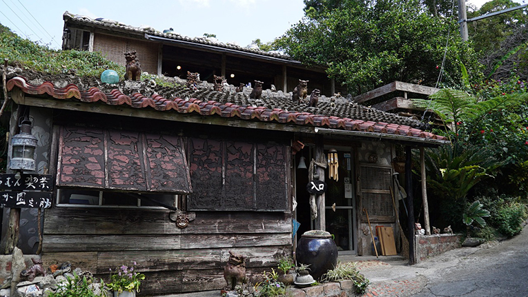 Old house in Okinawa, Japan
