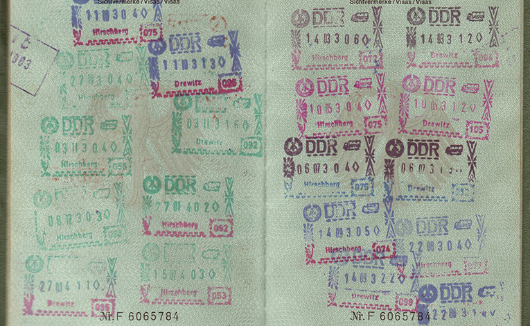 passport with many stamps
