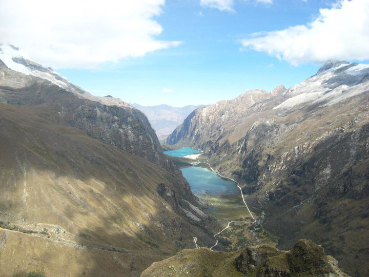 Huandoy Mountain in the Ancash Region of Peru.