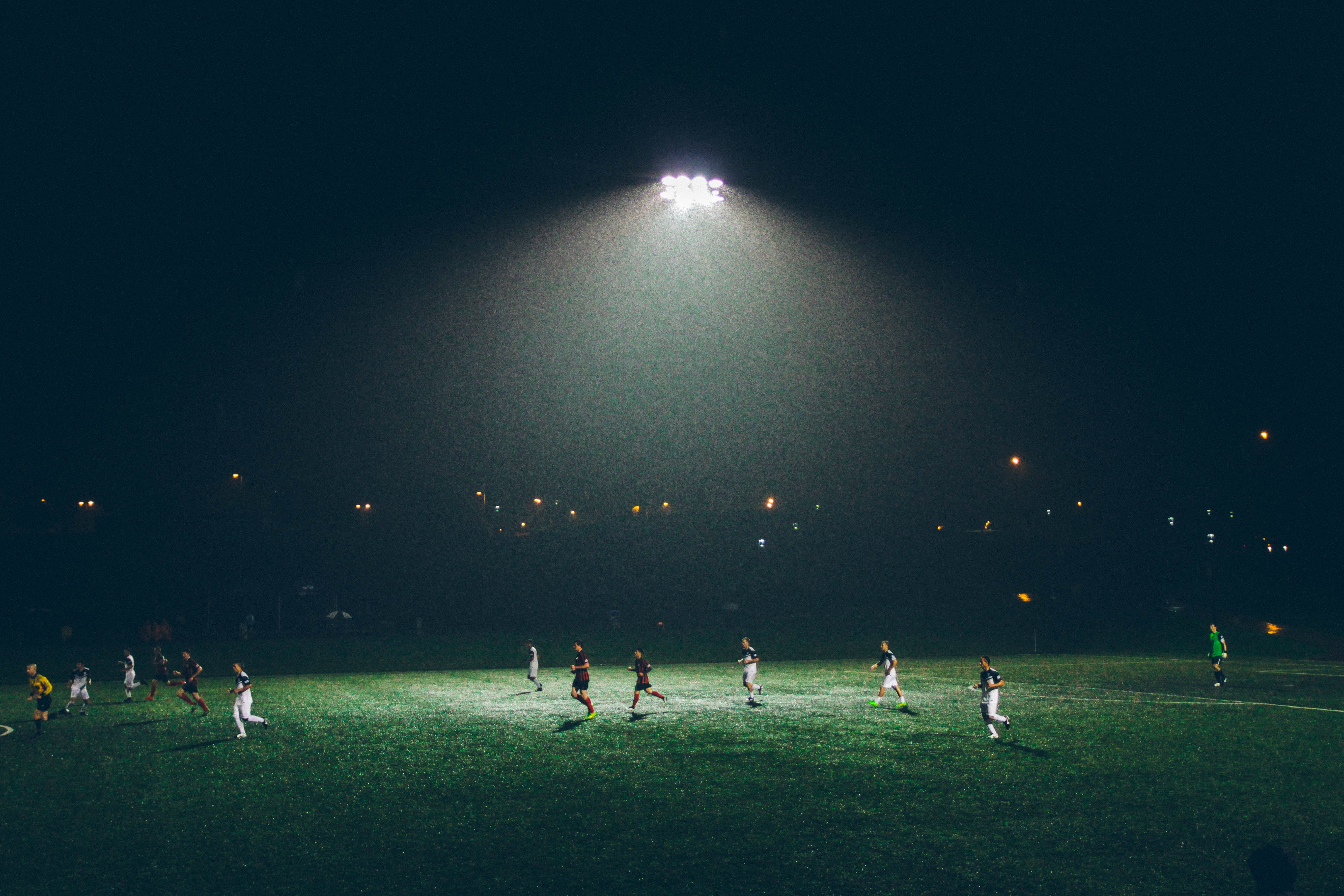 night game of soccer