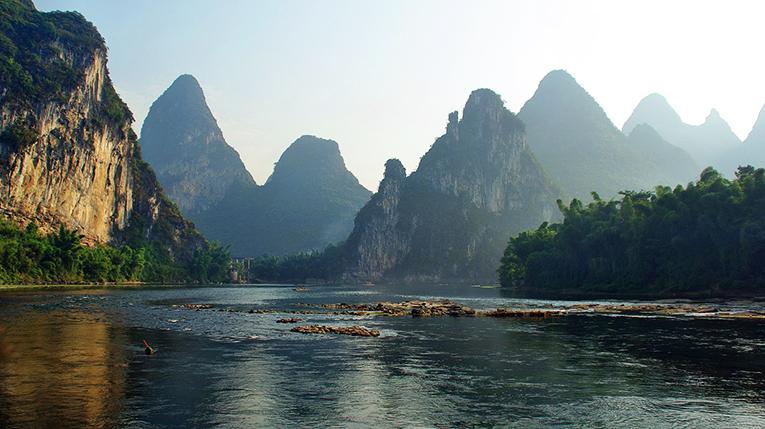 The Li River inGuangxi Zhuang Autonomous Region, China